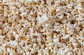 Closeup View Of Fresh, Fluffy Popcorn