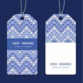 Vector purple drops chevron vertical stripe frame pattern tags set
