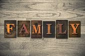 Family Concept Wooden Letterpress Type