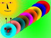 Illustration Of Colorful Caterpillar