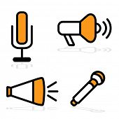 An image of different communication devices.