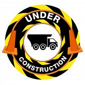 An image of an under construction warning sign.