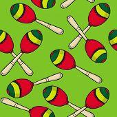 maracas seamless pattern