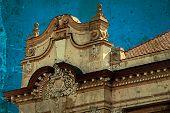 Old Postcard Of One Historical Building.timisoara, Romania