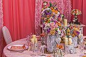 Arrangement For A Romantic Dinner