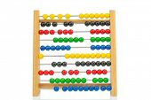 abacus with colorful beads, symbolic photo for finance, costing and accounting