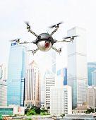 3d image of futuristic spy camera drone