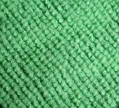 Green microfiber cloth close-up