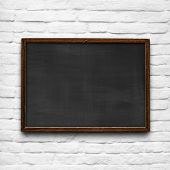 picture of business class  - School chalkboard with vintage grungy wood frame - JPG