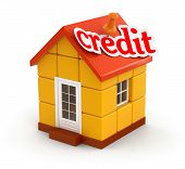 House and Credit (clipping path included)