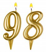 Birthday Candles Number Ninety Eight