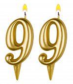 Birthday Candles Number Ninety Nine One