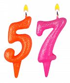 Birthday Candles Number Fifty Seven