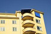Windows and balconies