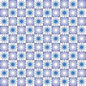 Winter abstract geometric seamless pattern