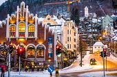 Bergen, Norway - December 27, 2014: evening the streets of Bergen at Christmas, Norway