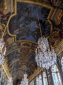VERSAILLES, FRANCE - AUGUST 28 2013: Versailles, Palace of Versailles, Hall of Mirrors