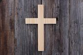 foto of christianity  - christian cross old wood wooden background christianity - JPG