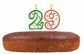 Birthday Cake With Candles Number Twenty Nine