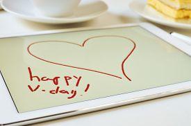 stock photo of v-day  - the text happy v - JPG