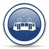 pic of tram  - tram icon public transport sign  - JPG