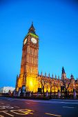 stock photo of london night  - Elizabeth  - JPG