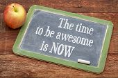 stock photo of red barn  - The time be awesome is now  - JPG
