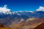 foto of snow capped mountains  - Snow capped mountains - JPG