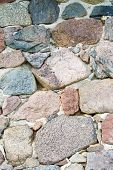 foto of fortified wall  - Beautiful close up of old stone wall  - JPG