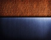 foto of hairline  - brushed metal on vintage texture background - JPG