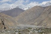 picture of mustang  - Jomsom city in lower Mustang district Nepal - JPG