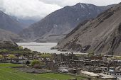 image of mustang  - Local houses at Kagbeni in lower Mustang district Nepal - JPG