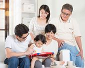 image of multi-generation  - Asian multi generations lifestyle at home - JPG