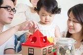 stock photo of multi-generation  - Asian multi generations family lifestyle at home - JPG