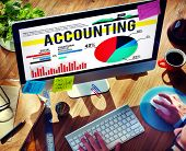 stock photo of budge  - Accounting Business Banking Budge Finance Market Concept - JPG