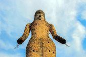 picture of hindu  - Ancient Buddha hindu statue at Sala Kaew Ku Nongkhai Thailand - JPG