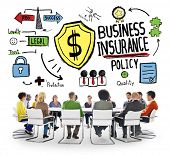 picture of risk  - Multiethnic  People Meeting Safety Risk Business Insurance Concept - JPG