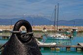 stock photo of marina  - Buoy in front of Ksilokastro Marina - JPG