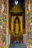 picture of goddess  - Budhha imgae with goddess sculpture on the door of Buddhist church - JPG