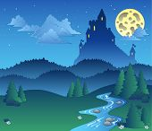 Fairy Tale Landscape At Night