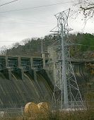 Power Lines And Dam