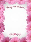 Congratulations - Flower Frame