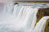 Godafoss Waterfal Inl Iceland