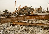 Destroyed Building Rubble
