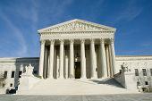 stock photo of supreme court  - us supreme court in washington dc in bright sunlight - JPG