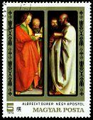 Vintage  Postage Stamp. Albrecht Durer. The Four Apostles.