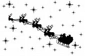 Silueta de Santa Claus