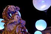 Terreaux Square And Bartholdi Fountain (Lyon - France)