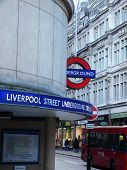 Liverpool Street Stop Of London'S Tube