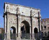 stock photo of spqr  - picture of arco di costantino in rome - JPG